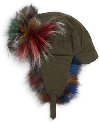 80774ccdd Dyed Fox Fur-trimmed Trapper Hat