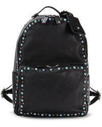 Valentino Garavani Studded Leather Backpack - Black