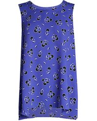 Anne Klein Floral Sleeveless Top - Blue