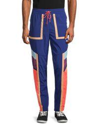 PUMA Men's Courtside Colorblocked Pants - Blue - Size Xl