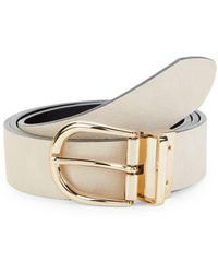 Calvin Klein Men's Reversible Leather Belt - Nude - Size Xl - Natural