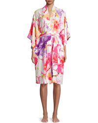 Natori Soleil Floral Robe - Pink