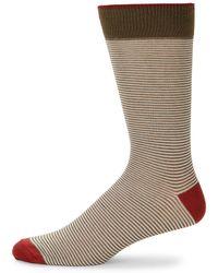 Saks Fifth Avenue - Feed Stripe Crew Socks - Lyst