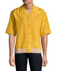 3.1 Phillip Lim Men's Souvenir Pyjama Button-down Shirt - Turmeric - Yellow