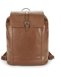 Cole Haan - Flap Leather Backpack - Lyst