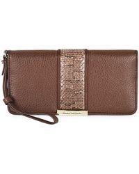 Stuart Weitzman - Patterned Leather Wallet - Lyst