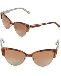 Vera Wang - 57mm Clubmaster Sunglasses - Lyst