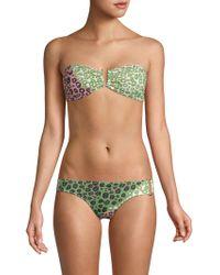 10 Crosby Derek Lam - Printed Stretch Bikini Bottom - Lyst