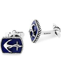 Effy Anchor Sterling Silver Cuff Links - Multicolor