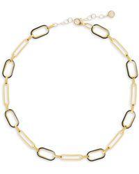 Gabi Rielle Celebration 14k Gold Vermeil Box-link Choker Necklace - Metallic