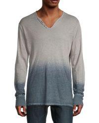 Zadig & Voltaire Ombré Linen T-shirt - Gray