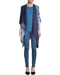 Calvin Klein Tie-dyed Shawl - Blue