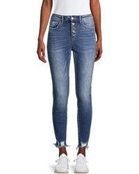 Flying Monkey High-rise Button-fly Jeans - Blue