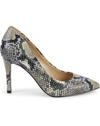 Saks Fifth Avenue Cady Snake-print Leather Court Shoes - Multicolour