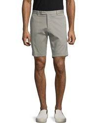 Ralph Lauren Purple Label Purple Label Slim-fit Stretch-cotton Shorts - Grey