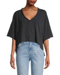 Free People We The Free Cally Boxy Cropped T-shirt - Black