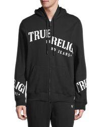 True Religion Cotton-blend Zip-up Hoodie - Black