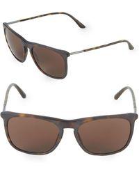 Giorgio Armani - 55mm Square Sunglasses - Lyst