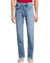 True Religion Ricky Relaxed Straight Flap-pocket Jeans - Blue