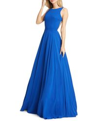 Mac Duggal Women's Plunge Back Ball Gown - Red - Size 4