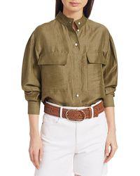 FRAME Clean Safari Shirt - Green