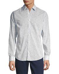 HUGO Lukas Printed Shirt - Blue