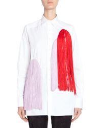 Each x Other Colourful Fringe Embellished Shirt - White