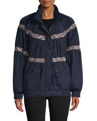 Free People On My Mind Bomber Jacket By We The Free - Blue