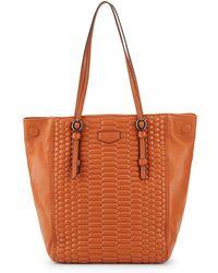 Aimee Kestenberg Medina Leather Tote - Brown