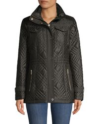 MICHAEL Michael Kors Missy Quilted Anorak - Black