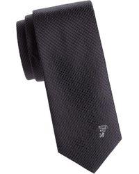 Versace - Textured Dotted Silk Tie - Lyst
