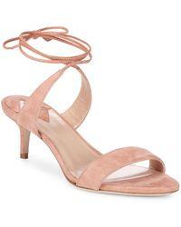 Aperlai - Ankle Wrap Kitten Heel Sandals - Lyst