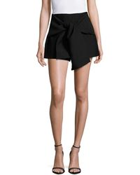 C/meo Collective Solid Tie-front Shorts - Black