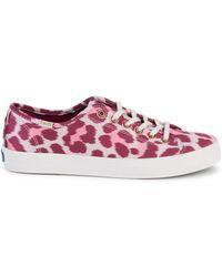 Keds - Women's Leopard-print Sneakers - Pink - Size 5.5 - Lyst