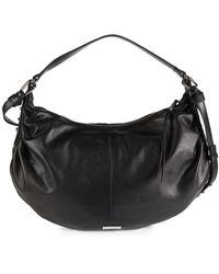 Vince Camuto Top-zip Leather Hobo Bag - Black