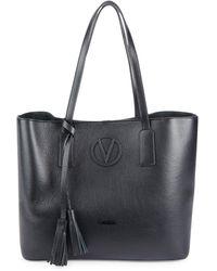 Valentino By Mario Valentino Soho Leather Tote - Black