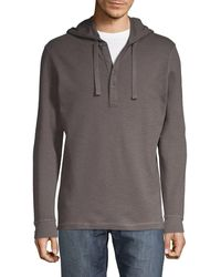 Saks Fifth Avenue Hooded Cotton Henley - White