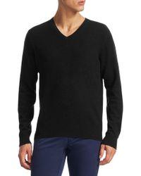 Saks Fifth Avenue - V-neck Merino Wool Jumper - Lyst