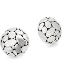 John Hardy - Kali Sterling Silver Button Earrings - Lyst