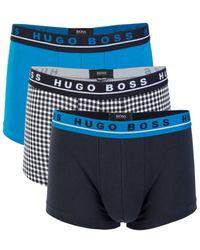 BOSS by HUGO BOSS 3-pack Stretch Cotton Trunks - Black