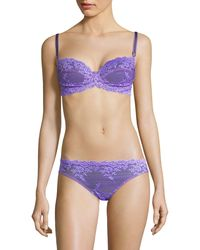 Wacoal Lace Underwire Bra - Purple