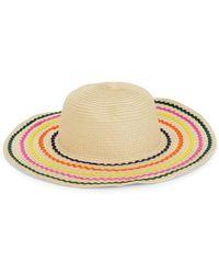 BCBGeneration - Rainbow Stripe Straw Hat - Lyst