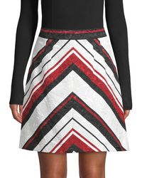 Dolce & Gabbana Chevron-striped A-line Skirt - Red