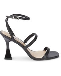 Steve Madden Scorpius Leather Heeled Sandals - Black