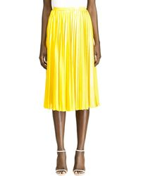 Ralph Lauren Collection Nevina Pleated Skirt - Yellow