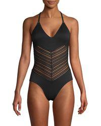 Robin Piccone Perla One-piece Swimsuit - Green