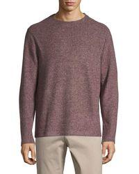 Saks Fifth Avenue Fuzzy Crewneck Sweatshirt - Multicolour