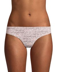 DKNY Graphic Stretch Thong - Natural