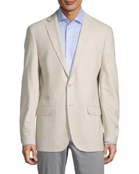 Calvin Klein Slim-fit Textured Solid Sportcoat - Multicolor