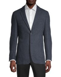 Ben Sherman Classic-fit Wool-blend Blazer - Blue